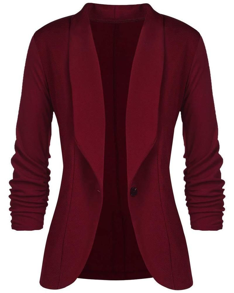 147392b6d4 Aceshion Women 3 4 Sleeve Blazer Open Front Cardigan Jacket Work Office  Blazer  fashion  clothing  shoes  accessories  womensclothing   suitssuitseparates