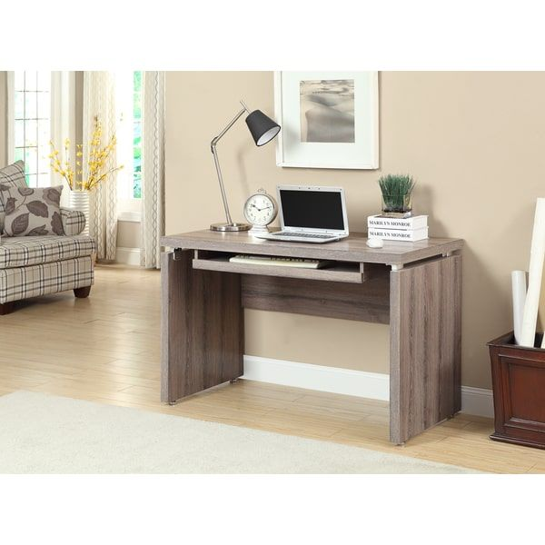 Reclaimed-look Dark Taupe 48-inch Computer Desk Home office