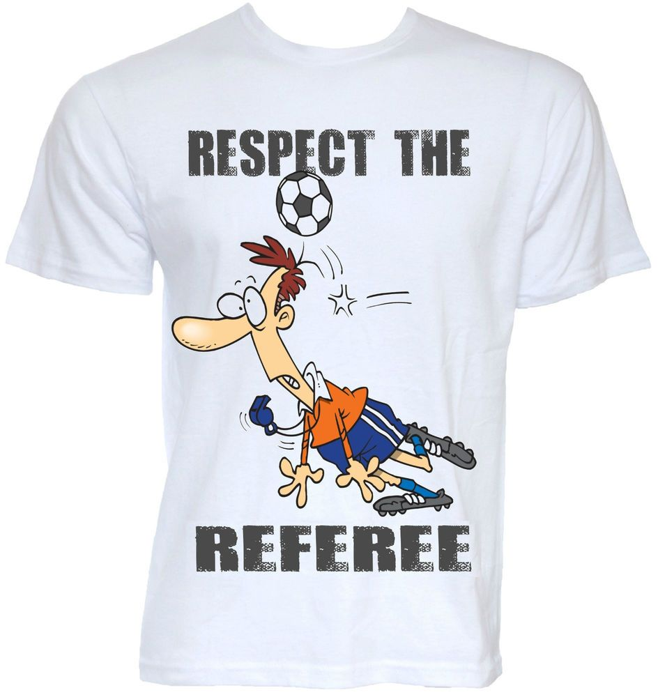 Mens funny cool novelty football referee t shirt sports for Cool football t shirts