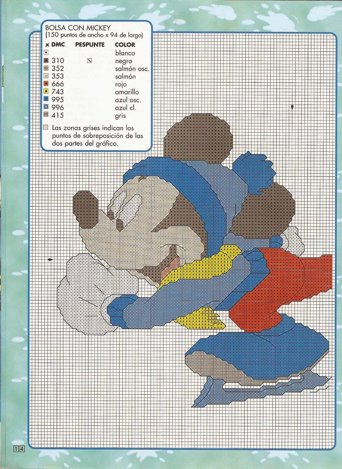 revistas de manualidades gratis | Punto de cruz Disney | Pinterest