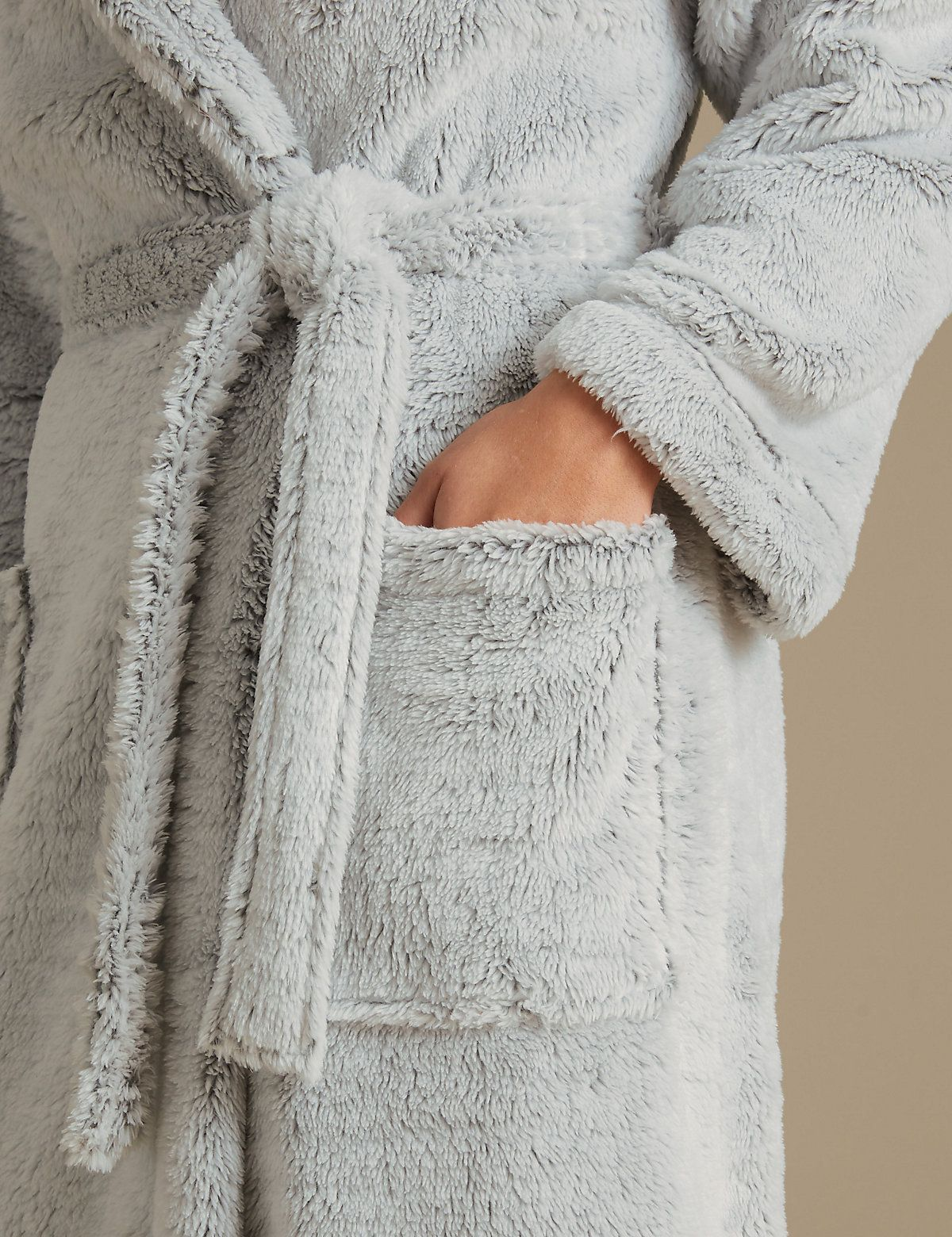 Shimmersoft™ Hooded Dressing Gown   Dressings, Gowns and Bath robes