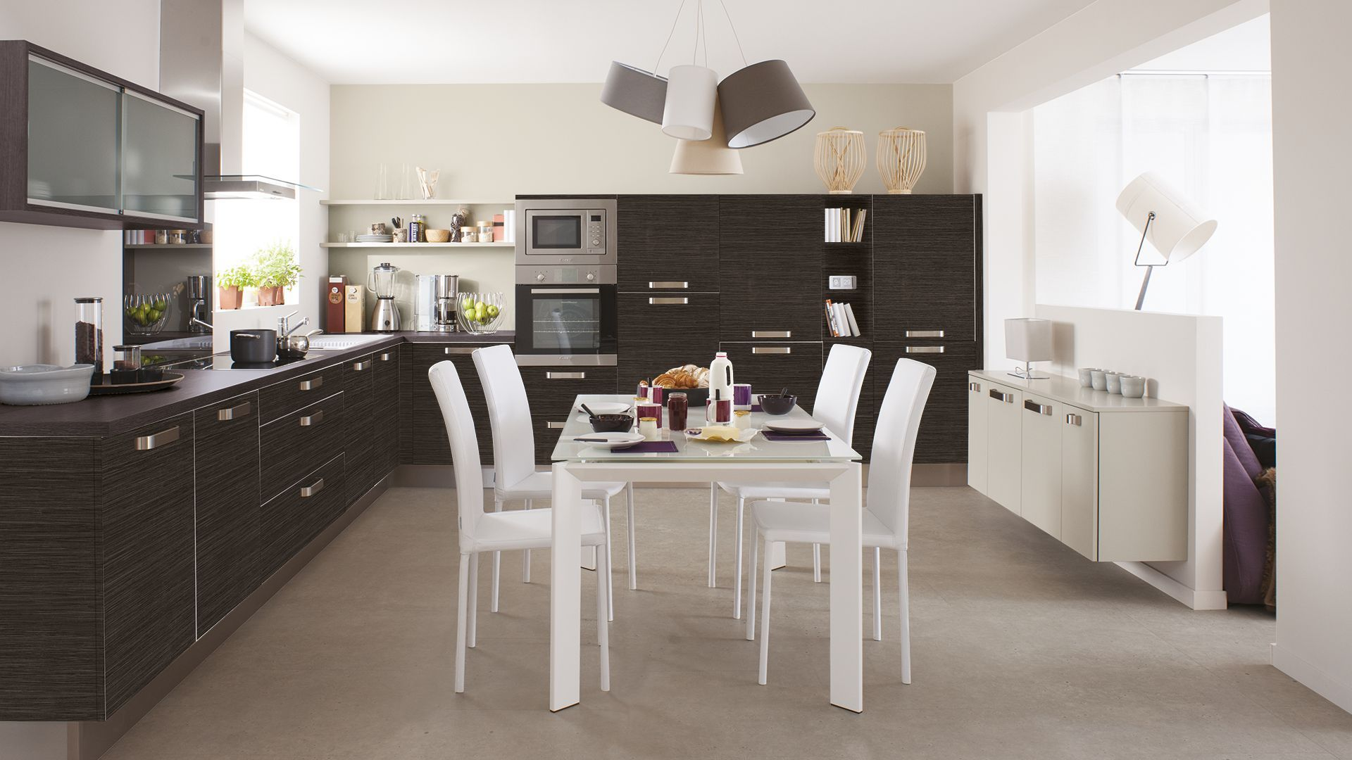 great cuisine noirblanc mur chocolat home u more pinterest cuisine design cuisine and house with. Black Bedroom Furniture Sets. Home Design Ideas