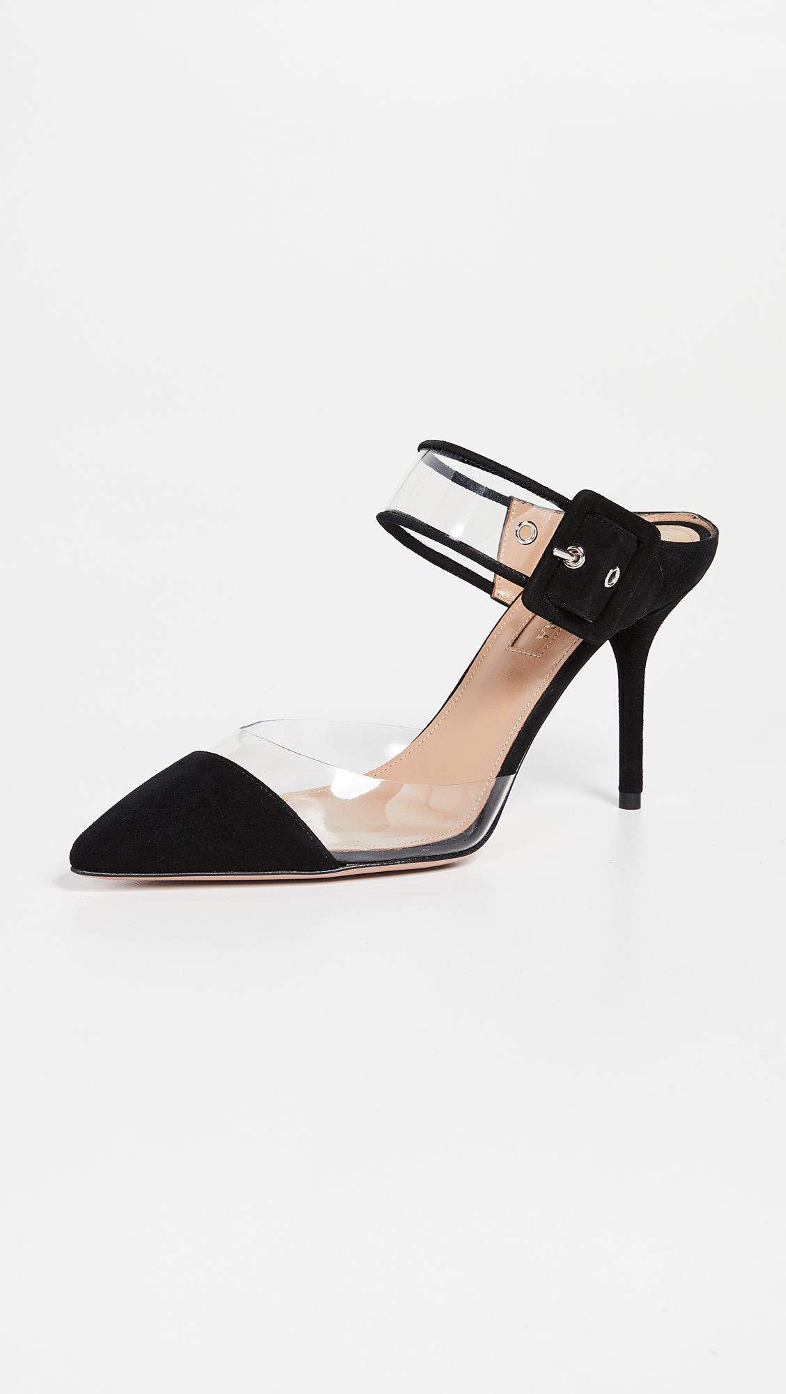 Aquazzura optic 85mm mules heels womens fashion shoes