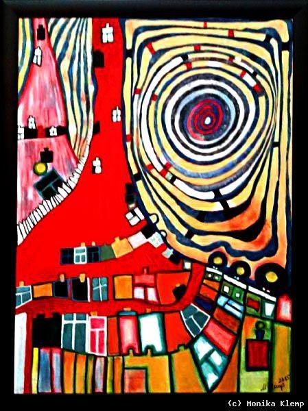 Kunstler Kunst Und Kunstwerke Hundertwasser Zeitgenossische Abstrakte Kunst Kunstproduktion