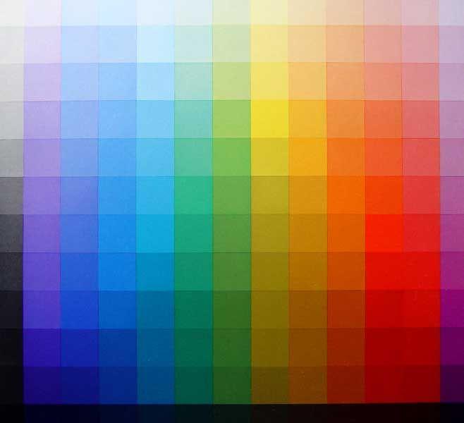 Johannes itten colour table claro oscuro en doce pasos de - Color gris claro ...