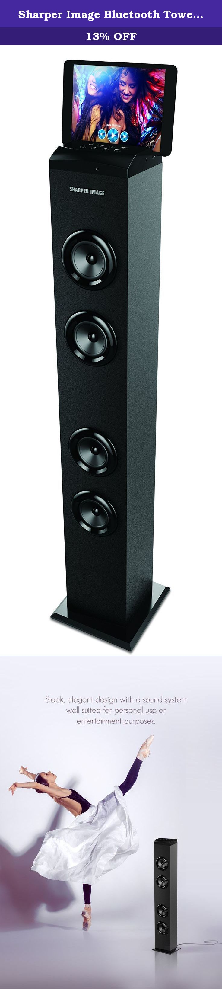 Sharper Image Bluetooth Tower Speaker With A Docking Sta Portable