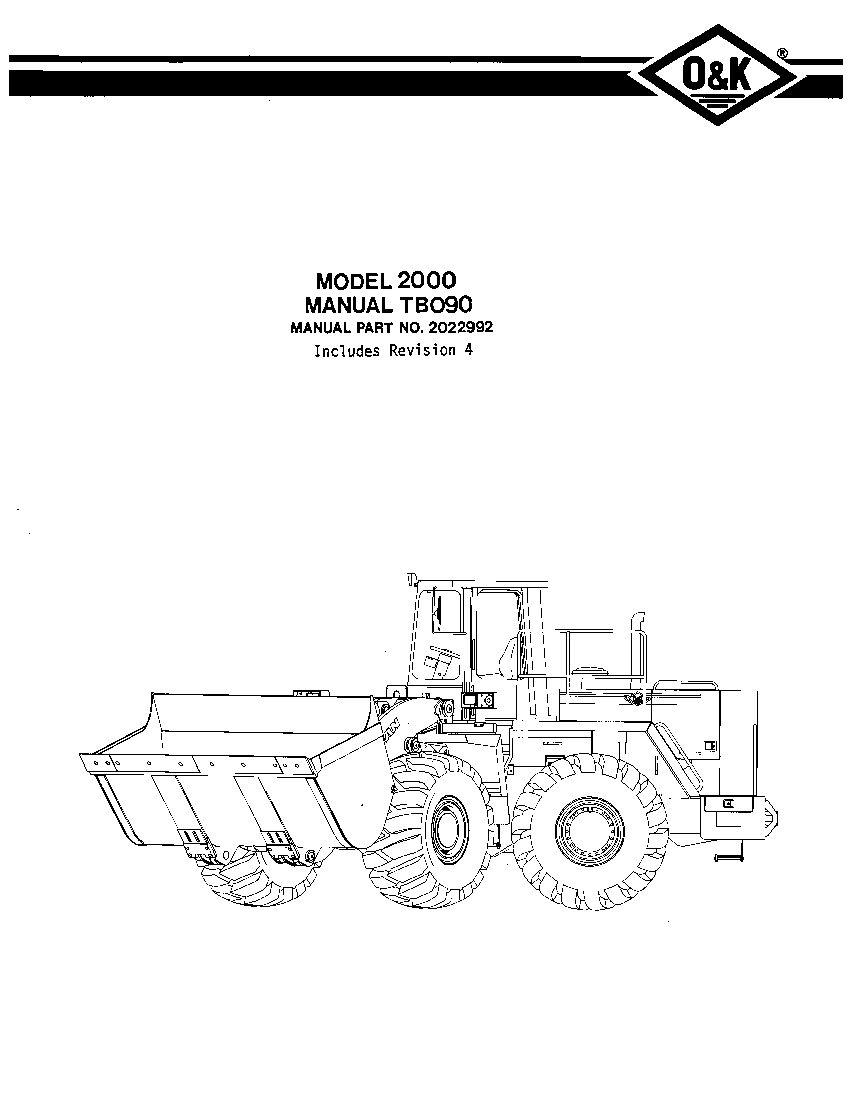 OK TROJAN 2000-TB090 WHEEL LOADER Parts Manual PDF