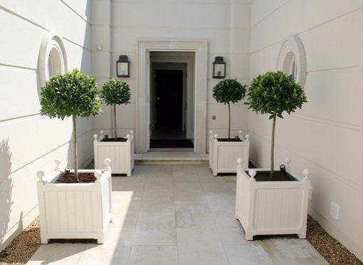 White Versailles Planters Garden Architecture Front Garden Garden Gates