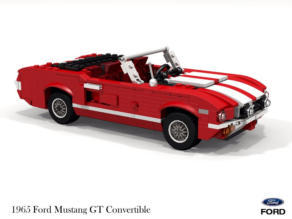 ford mustang gt convertible 1965 lego cars lego. Black Bedroom Furniture Sets. Home Design Ideas