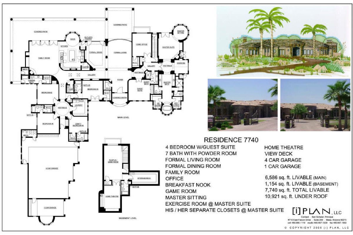 Floor Plans 7 501 Sq Ft To 10 000 Sq Ft Square House Plans Courtyard House Plans Floor Plans
