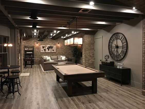 Best Finished Basement Ideas Fot Teen Hangout Finished Basement Ideas On A  Budget, Man Cave, Families, Low Ceiling, Layout #HouseIDeas  #LaundryRoomIdeas ...