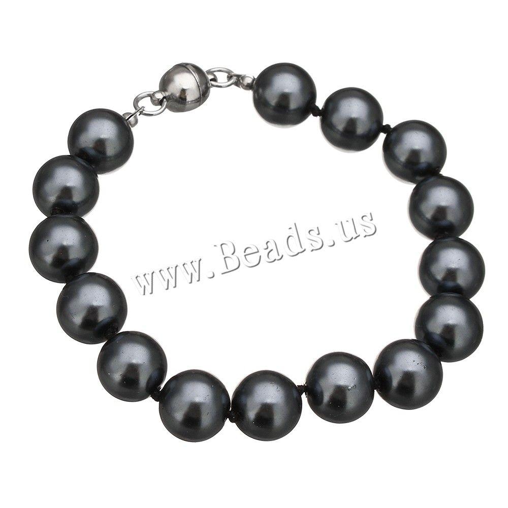 5984382e65d7 Cristal pulsera de perlas, Perlas de vidrio, aleación de cinc cierre ...