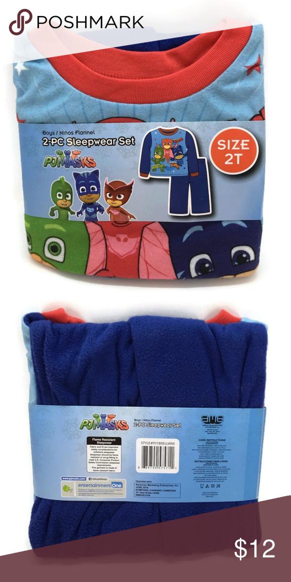 PJ Mask Toddler Boys 2pc Pajama Sleepwear Set Flannel Size 3T