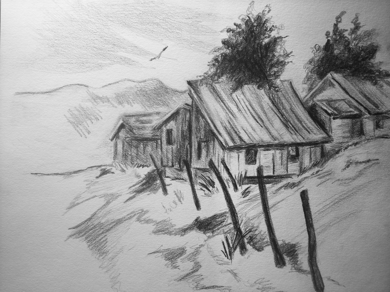 Viewing Gallery For Pencil Drawings Of Landscapes Landscape Pencil Drawings Realistic Pencil Drawings Cool Pencil Drawings