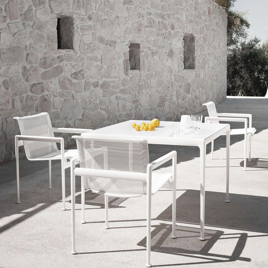 Chaise contemporaine / en résille / en fonte d\'aluminium / de jardin ...