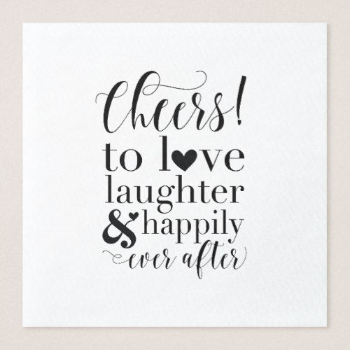 wedding bridal shower napkins cheers to love