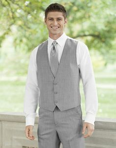 A Ban Grooms Wedding Attire Groom Suit Light Grey Vest And Matching Flat Front Pants For