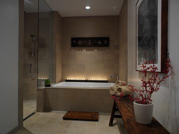 limestone bathroom half wall - Sök på Google