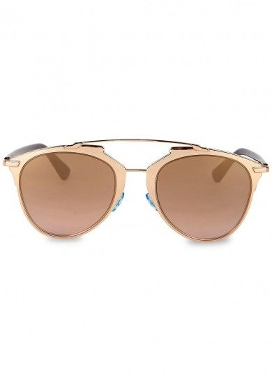 848316922cf Dior Reflected mirrored clubmaster-style sunglasses