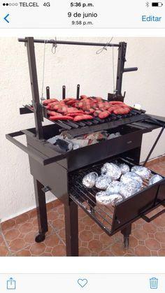 Asadores de carb n en m xico df asador tipo argentino espada brasile a brochetas parrillas - La casa del barbecue ...