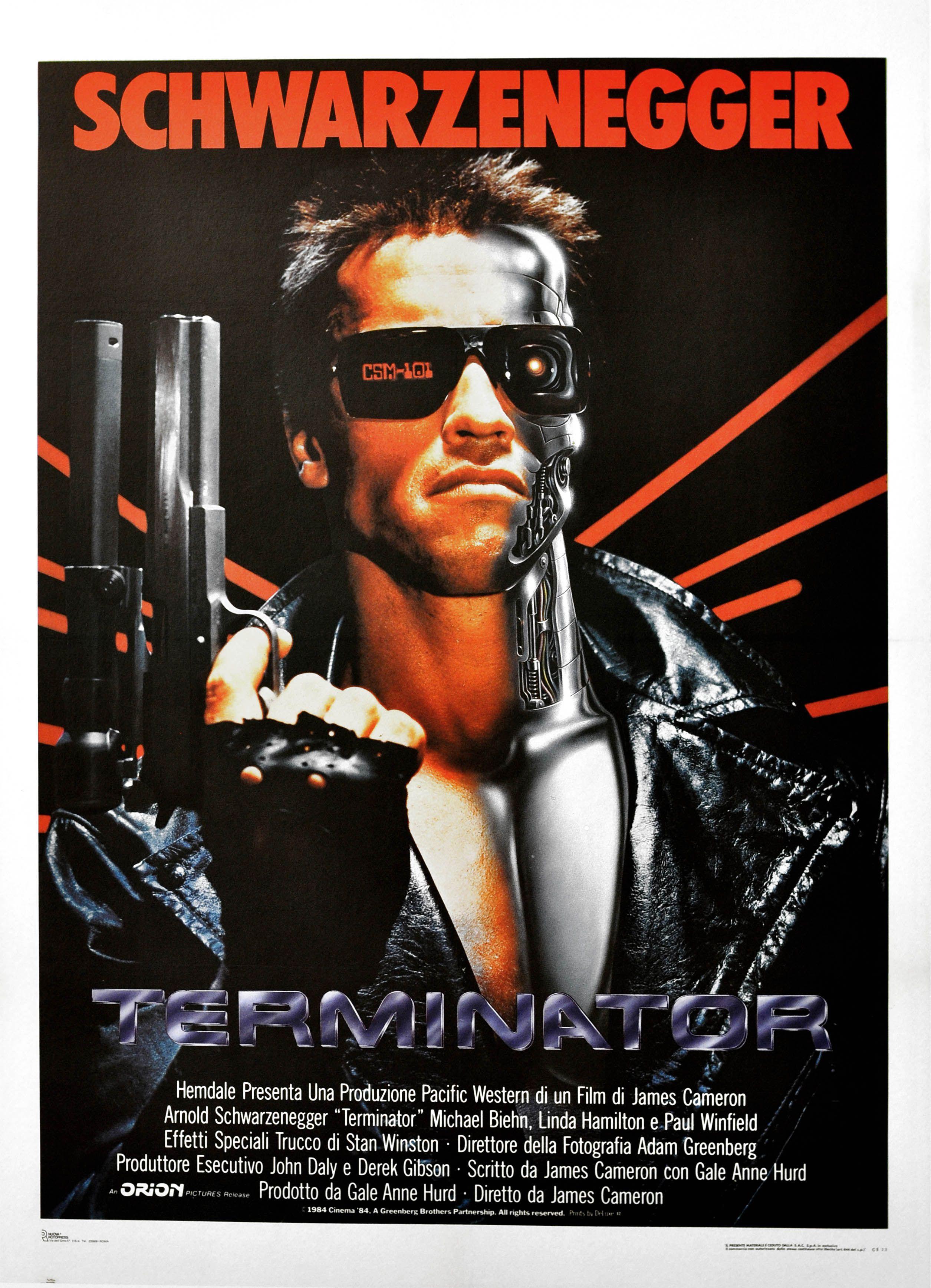 Cartel Italiano De Terminator Carteles De Peliculas Famosas Terminador Peliculas Cine