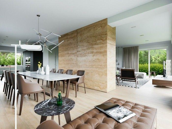 Wohnideen Wohnzimmer Offener Wohnplan In Braunnuancen | Interieur