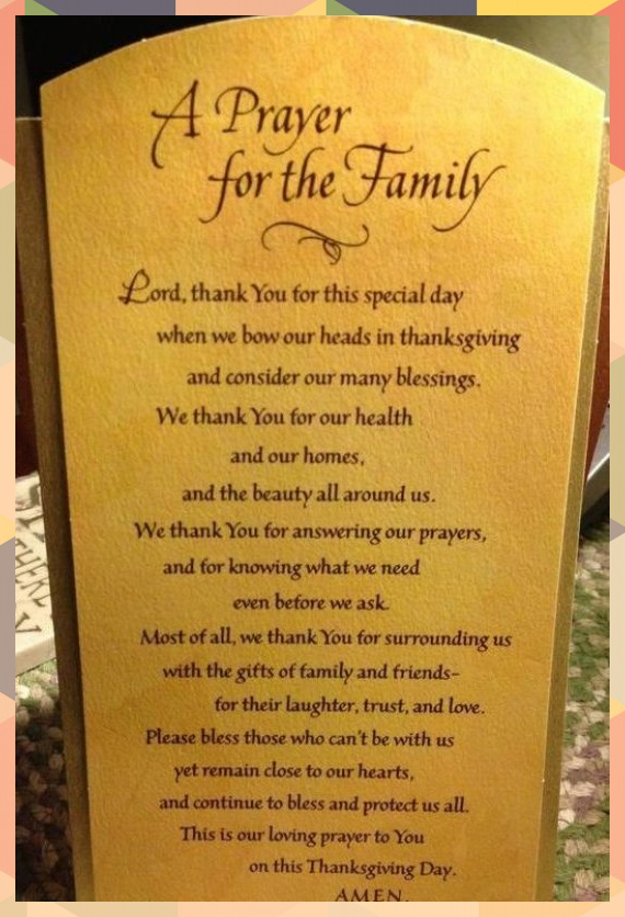 This Thanksgiving consider the following prayers to help open up your meal with