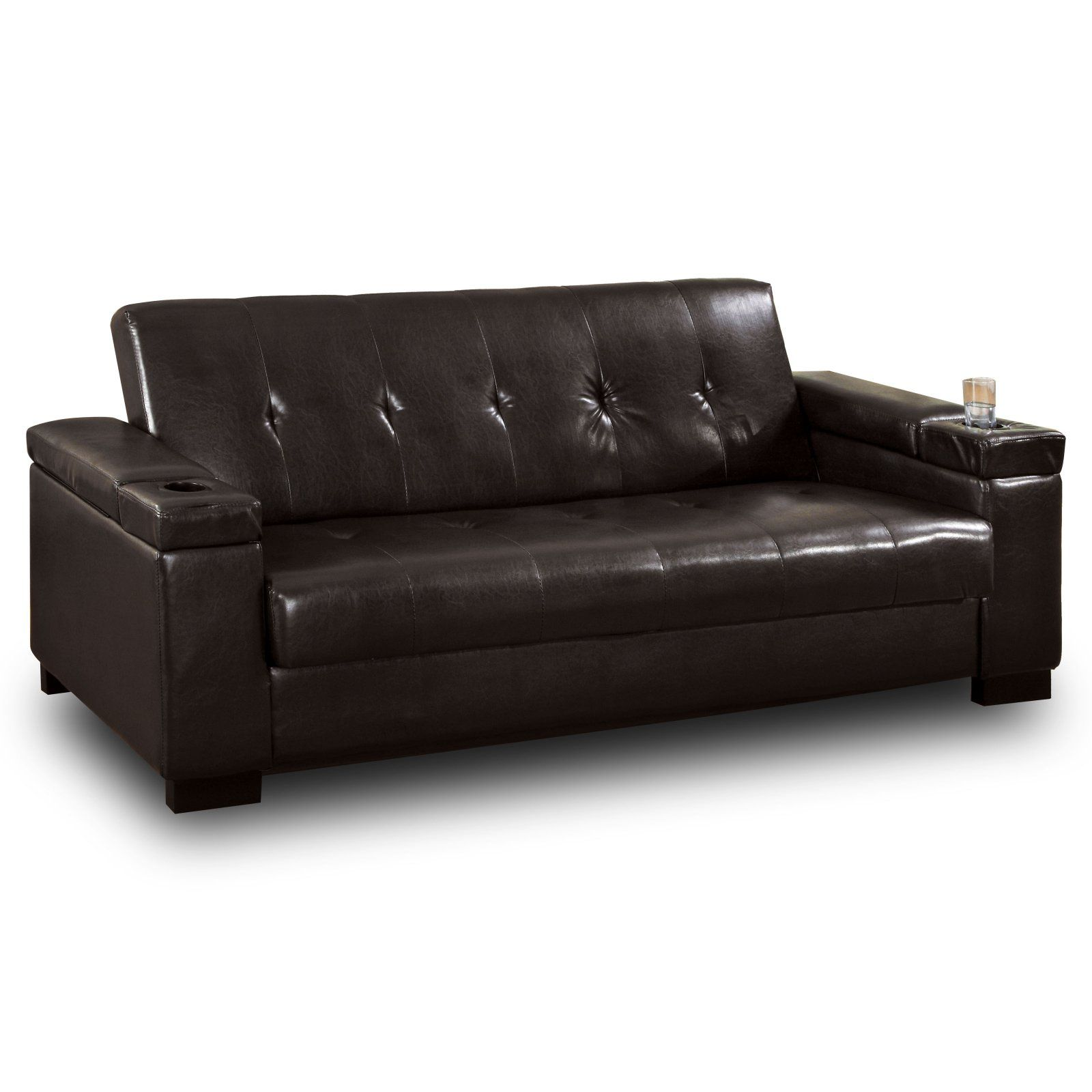 Morgan Espresso Bi Cast Leather Futon With Storage At The Foundary Okay Is But This A Huge Improvement On Your Standard