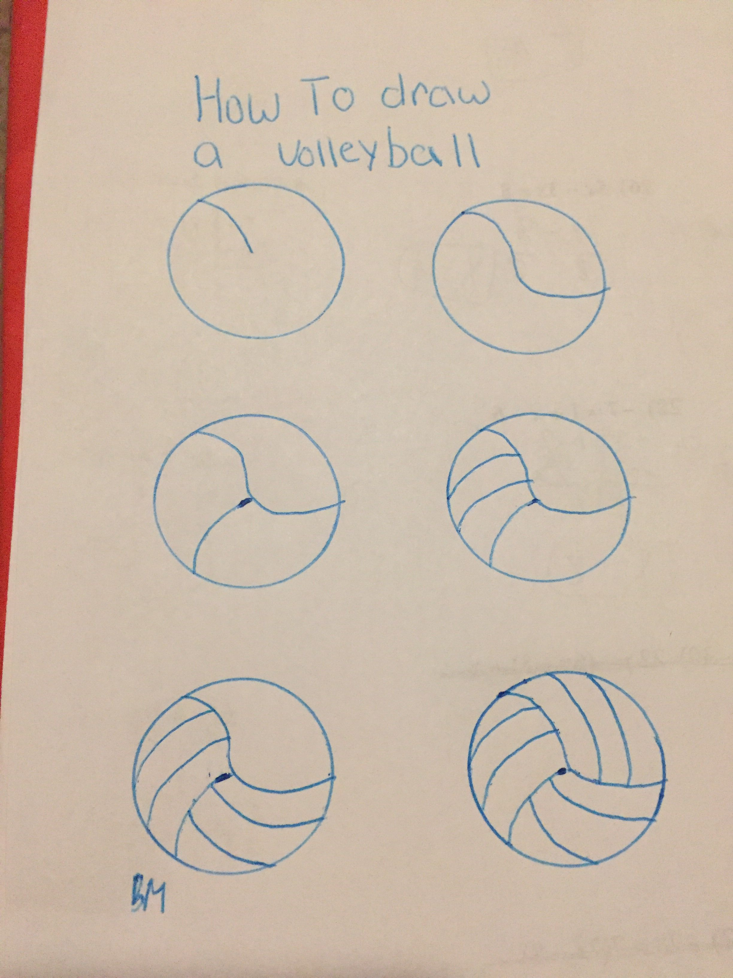 How To Draw A Volleyball Volleyball Drawing Bullet Journal Doodles Ball Drawing