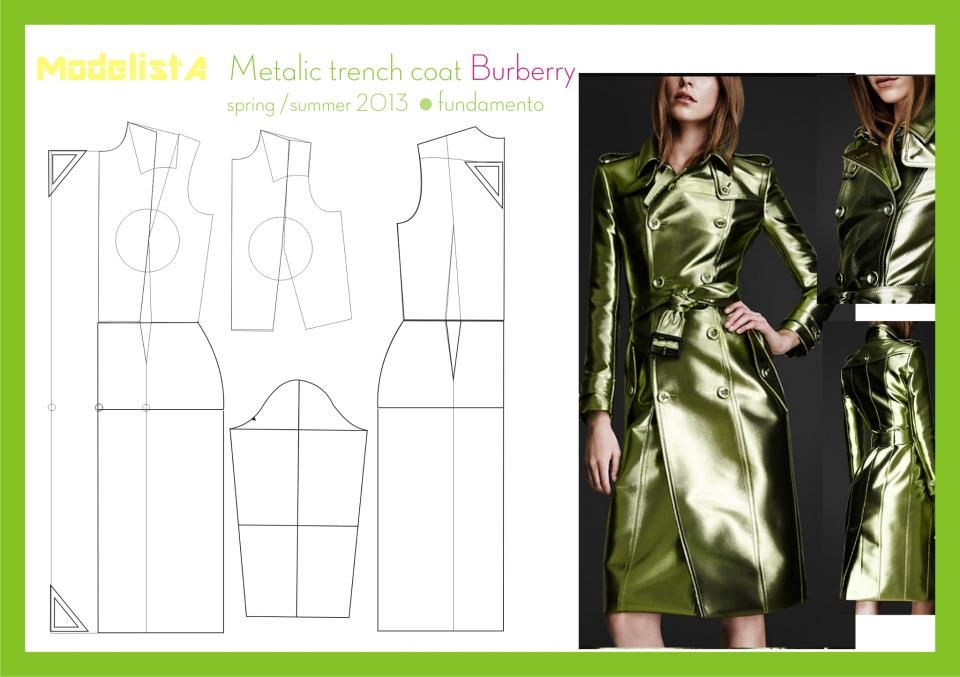 Trench coat burberry | Sewing | Pinterest | Nähen