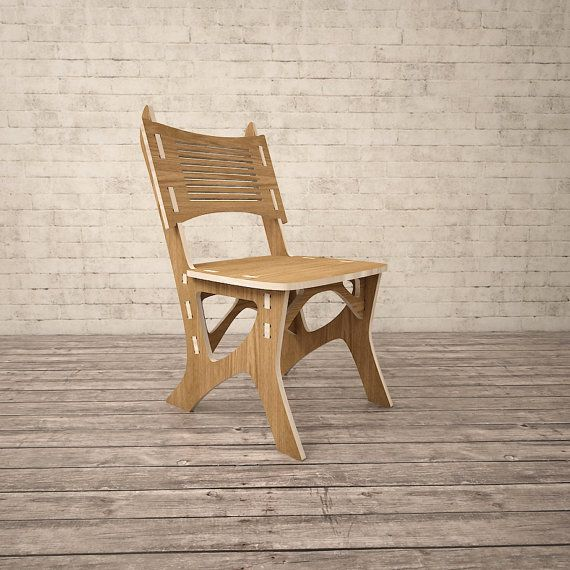 Chair CNC miled wood DXF file Digital download | CNC | Chair