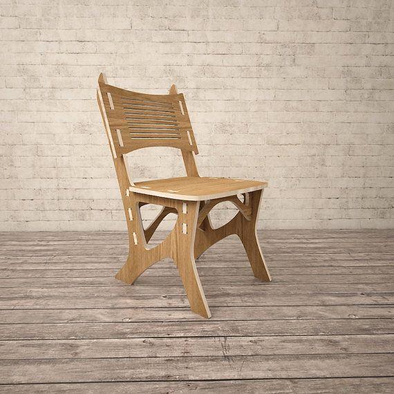 Chair CNC miled wood DXF file Digital download | CNC | Pinterest ... | furniture dxf download