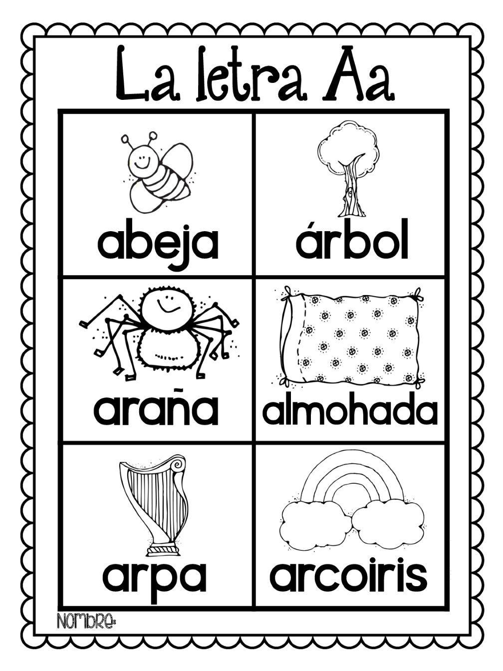 Pin De Kris Duràn En Tema Alfabeto éducation Abécédaire Y Espagnol