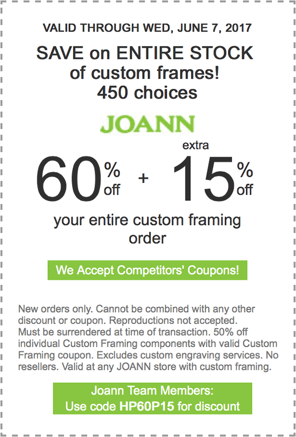 60 percent off plus extra 15 percent off your entire custom framing ...