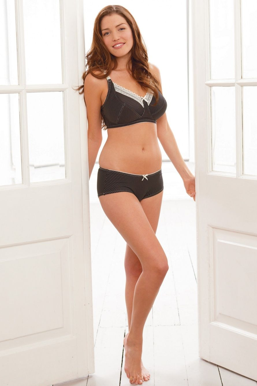 d206c43374b37 Lauren - Style 839. Black & Cream Pinstripe Nursing Bra. Our best-selling