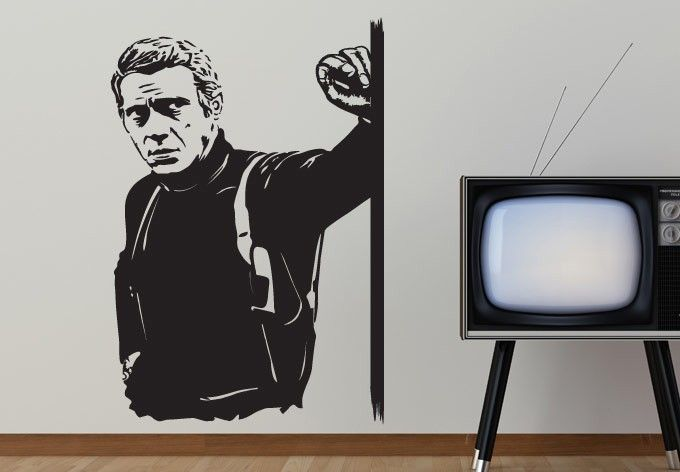 Steve Mcqueen Wall Sticker The London Born Filmmaker And Artist Known For His Anti Hero Persona Was One Of The Mos Decal Wall Art Sticker Wall Art Wall Decals