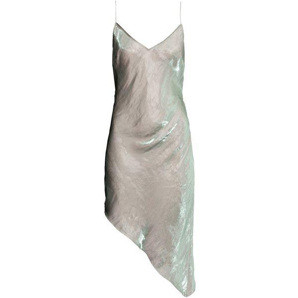 H&M Asymmetric dress (€38) ❤ liked on Polyvore featuring dresses, short dresses, woven dress, tie dress, h&m dresses and asymmetrical dress