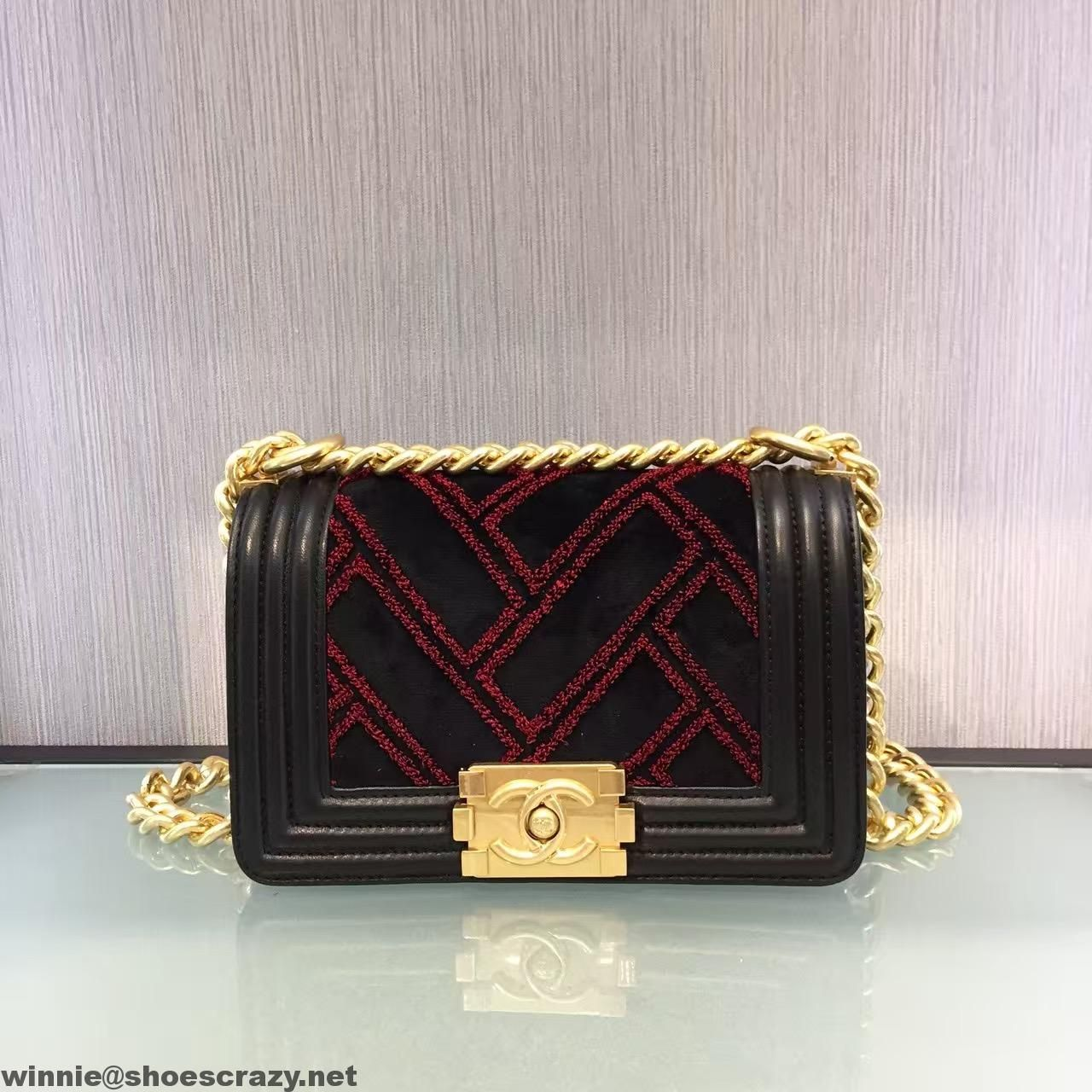 95fb9c57a974 Chanel Velvet, Calfskin & Bronze Small Boy Chanel Flap Bag 2016 ...