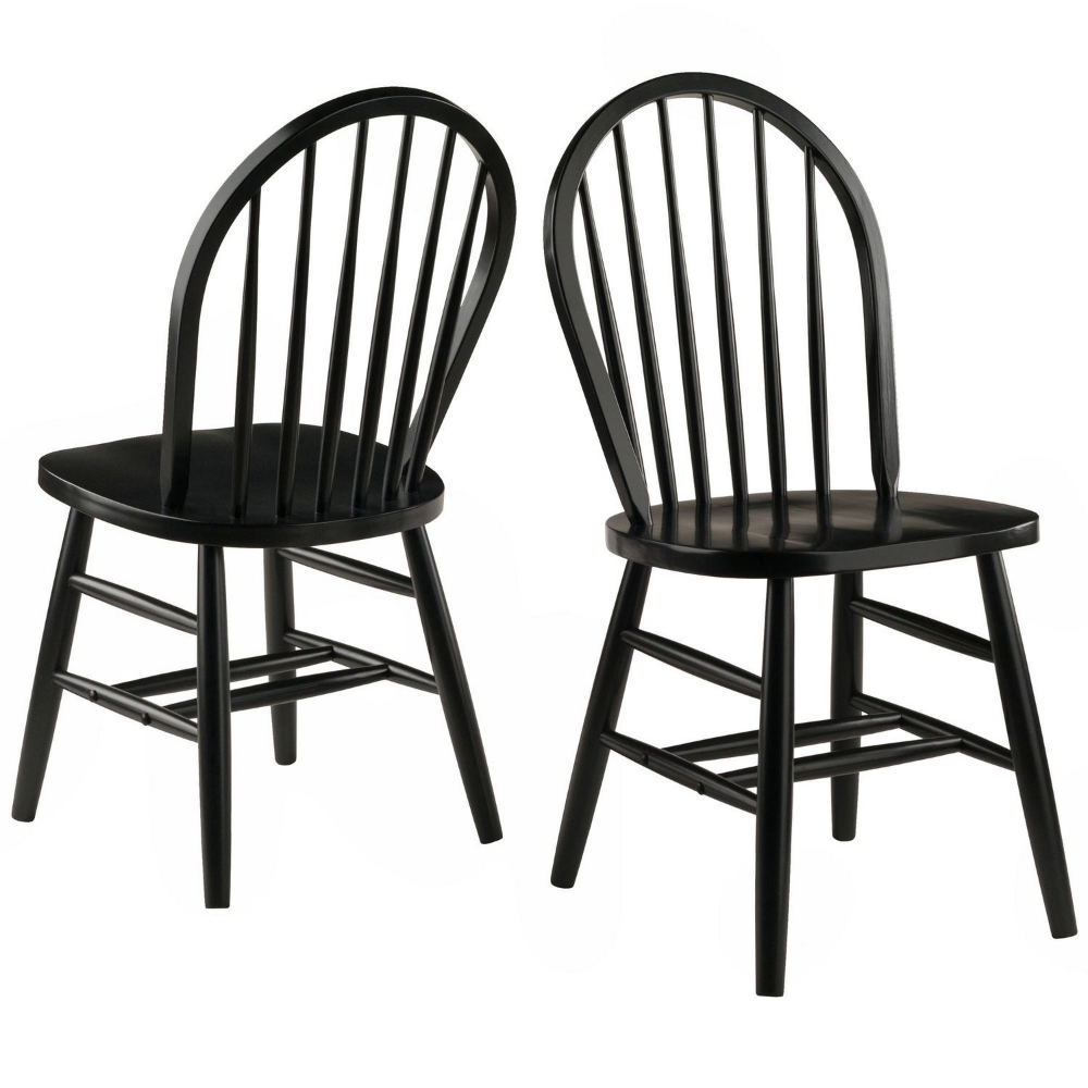 Winsome Winsor 2pc Set Chair In Black Finish Walmart Canada