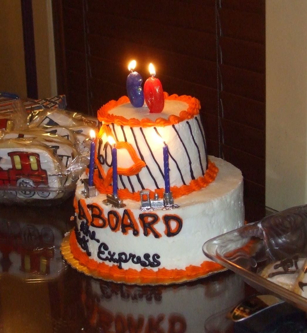 This Is Our Version Of The Lionel Colors In Train Cake For My Brother Pat S 60th Birthday Market District Giant Eagle Made As We