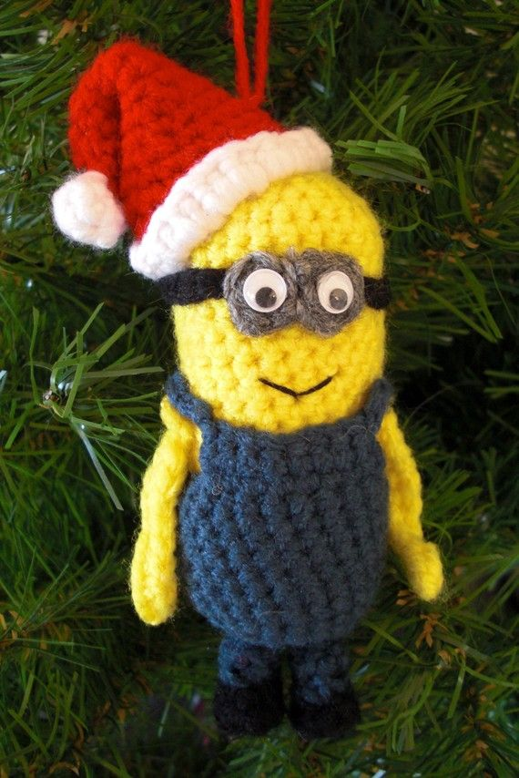 249 pattern minion christmas ornament - Minion Christmas Decorations