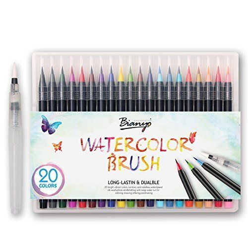 Dainayw Watercolor Brush Pens Set Soft Flexible Tip Durable