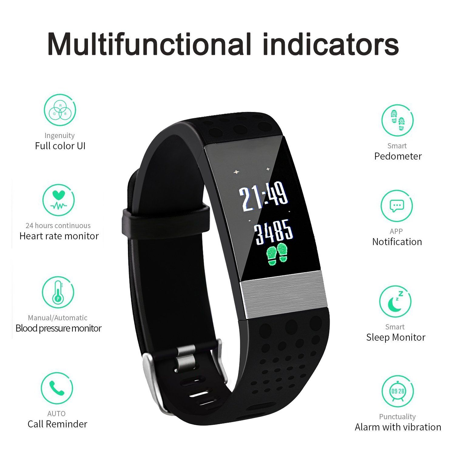 Fitness Tracker Kasmer Activity Tracker Smart Wristband Color Screen Ip67 Waterproof With Heart Rate Monito Fitness Tracker Activity Tracker Heart Rate Monitor