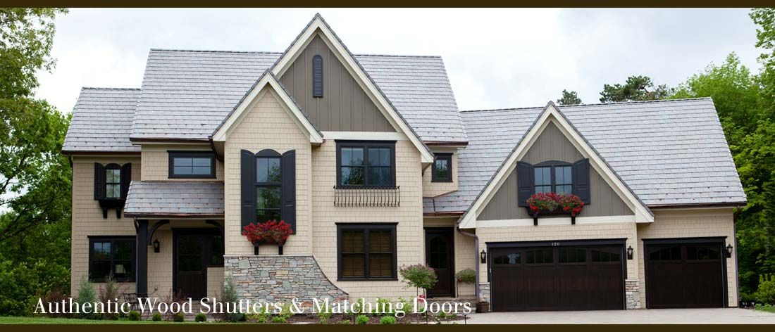 Matching Entry Doors, Garage Doors And Shutters