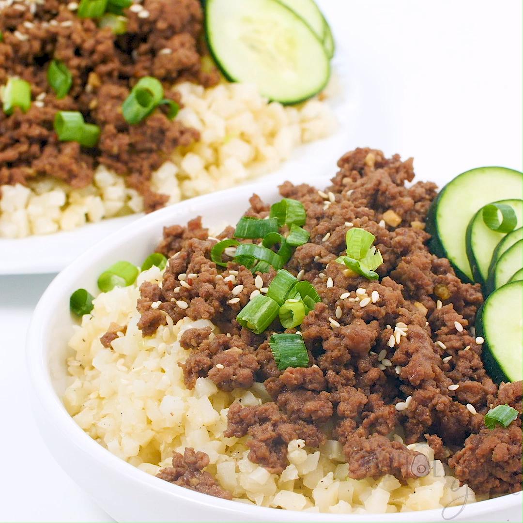 Photo of Easy Keto Korean Ground Beef Bowl Recipe