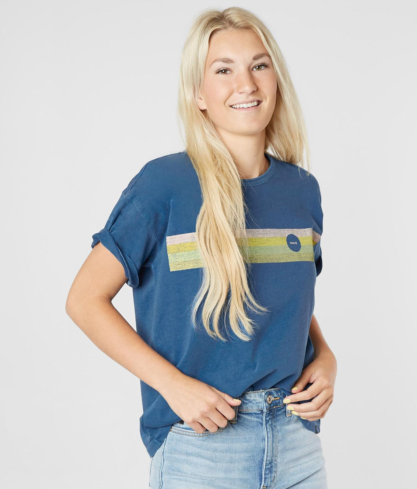 cheap prices shop best sellers good selling Hurley Retro Ringer T-Shirt - Women's T-Shirts in Blue Force ...