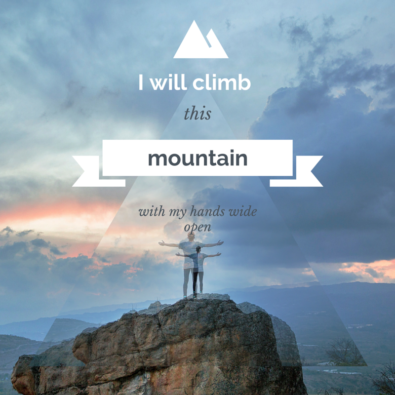 I will climb this mountain with my hand wide open #worship #music ...