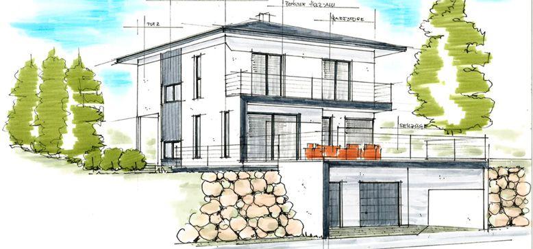 Haus Mit Walmdach walmdach haus moderner plan häuser haus modern and