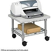 Safco Under Desk 1 Shelf Steel Mobile Printer Stand Gray 5206gr Printer Stand Safco Printer Stands