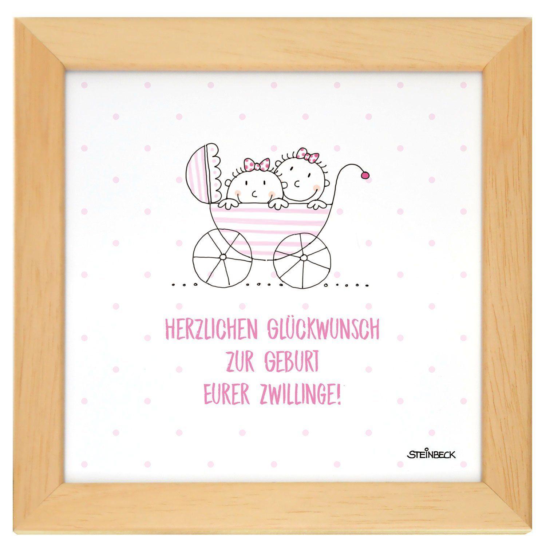 Steinbeck Bild Im Rahmen Baby Mädchen Zwillinge Geburt